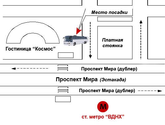 Схема отправления автобуса от